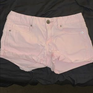 Unique pink corduroy shorts